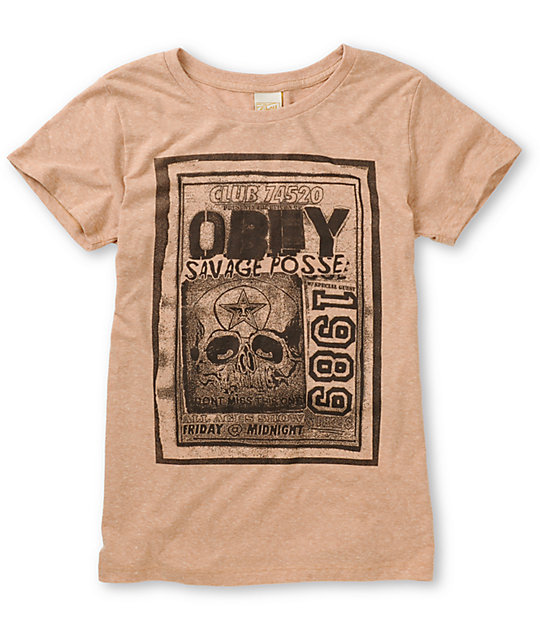 Obey Punk Flyer Heather Khaki Tri-Blend T-Shirt