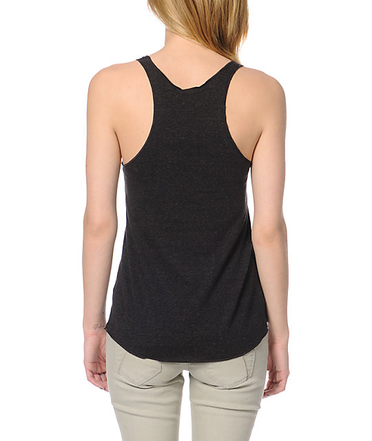 Obey Quality Heather Charcoal Tank Top