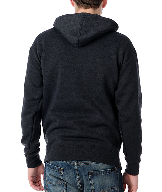 Obey Records Charcoal Mens Hoodie