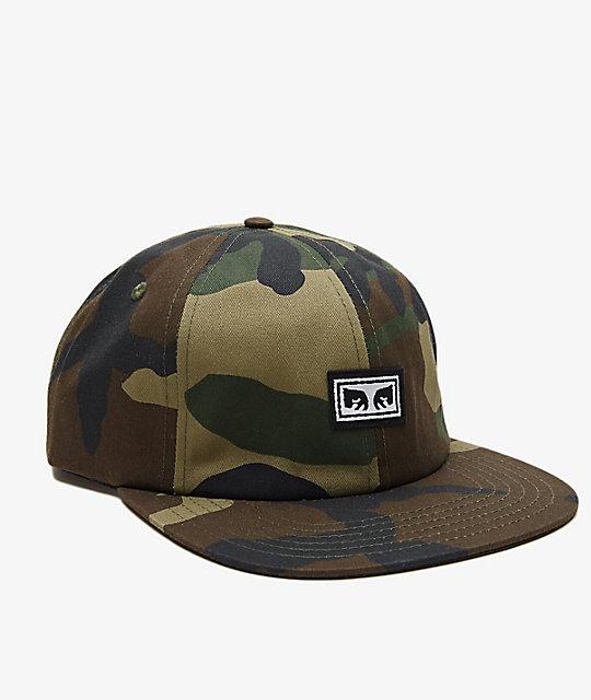 d8e90e168f3 Obey Resist Orange Camo Snapback Hat