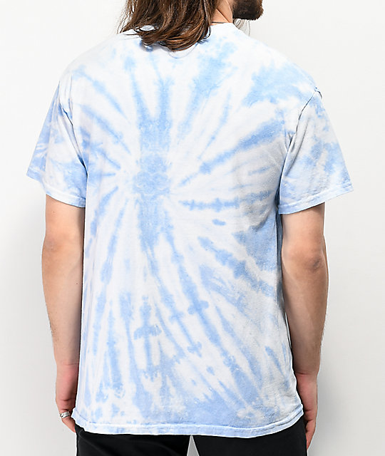 Obey Rose Shackle Blue Tie Dye T-Shirt