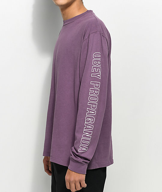 Obey Rough Draft Dusty Eggplant Long Sleeve T-Shirt