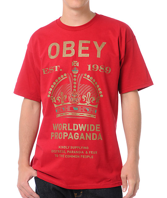 Obey Royal Mandate Red T-Shirt