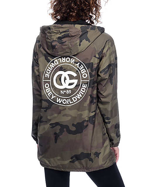 85585d5e063cc Obey Rue De La Ruine Camo Coaches Jacket   Zumiez