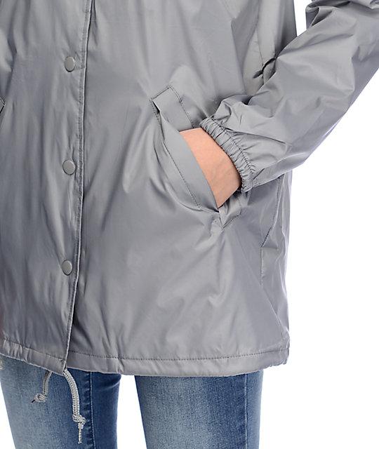 b5ef372bf2a20 Obey Rue De La Ruine Grey Coaches Jacket   Zumiez