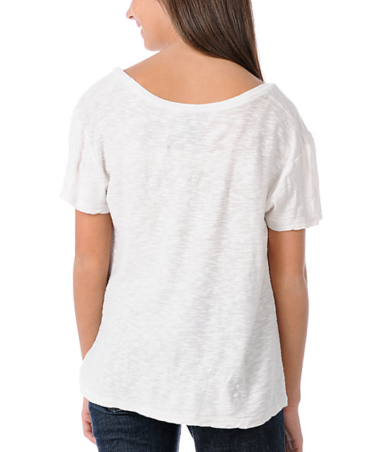 Obey Runnin Scoop Dolman White T-Shirt