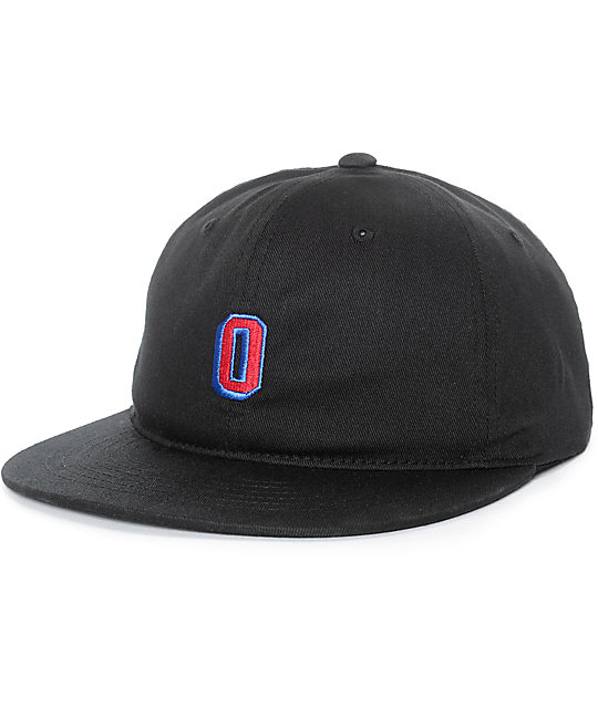 Obey Russell Black Flexfit Hat