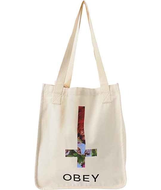 Obey Salem Springs Natural Tote Bag