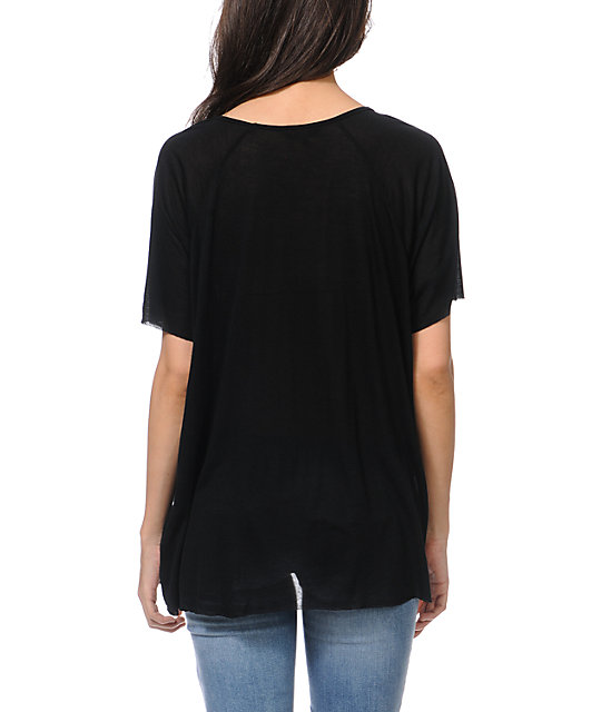 Obey Sand Pearl Black Harmony Top