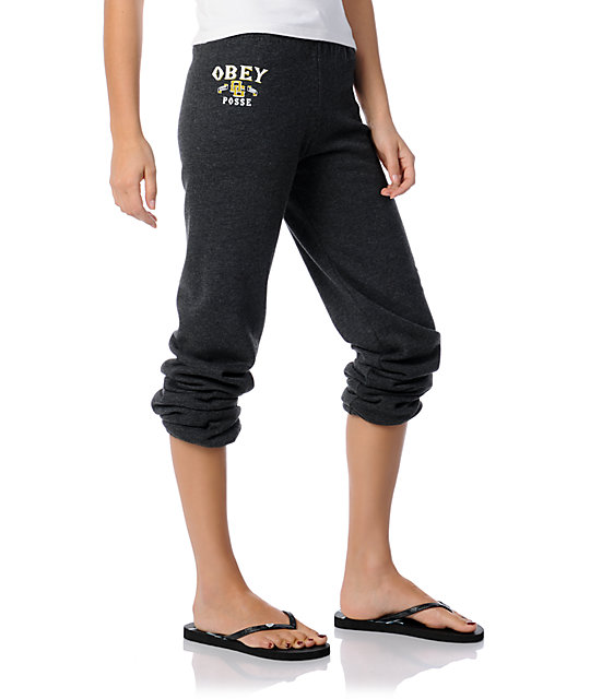 Obey Sandlot Grey Sweatpants