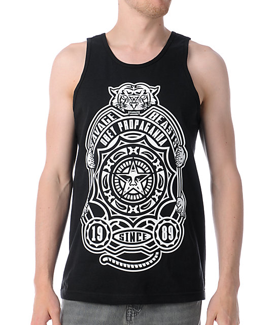 Obey Savage Beasts Black Tank Top