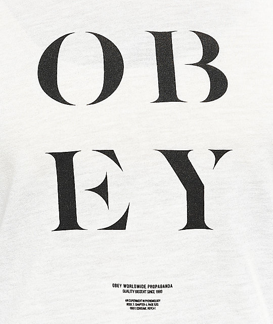 Obey See Clearly Cream & Port Royal Baseball T-Shirt