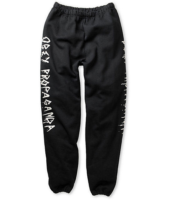 Obey Shadow Of Death Black Sweatpants