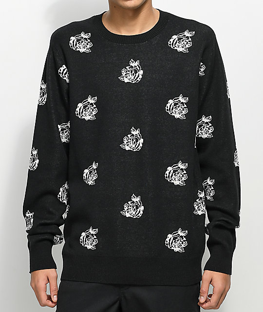 Obey Shepard Rose Black Sweater
