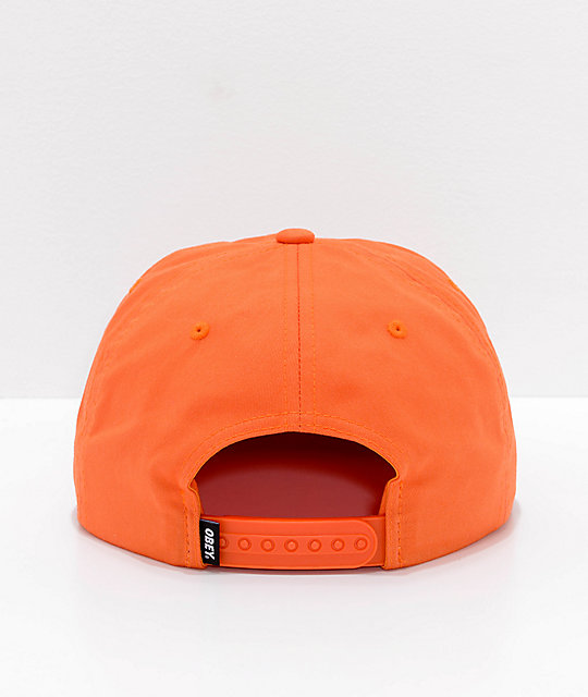 Obey Shout Orange Snapback Hat