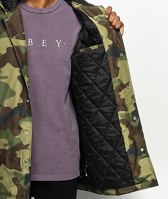 Obey Singford Camo Stadium Jacket