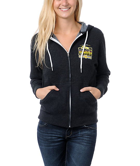 Obey Skyline Charcoal Zip Up Hoodie