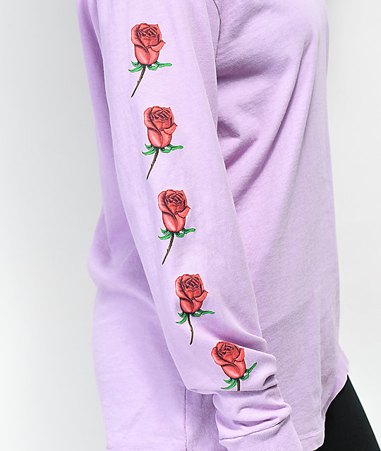 Obey Slauson Rose Lavender Long Sleeve T-Shirt