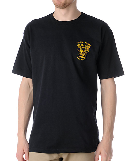 Obey Special Forces Black T-Shirt