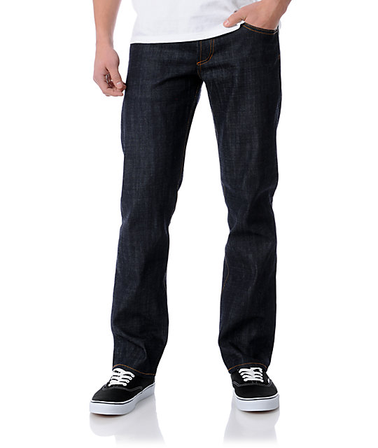Obey Standard Issue Raw Regular Fit Jeans