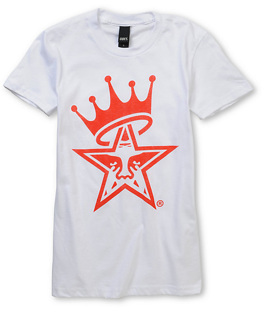 Obey Star Crown Basic White T-Shirt