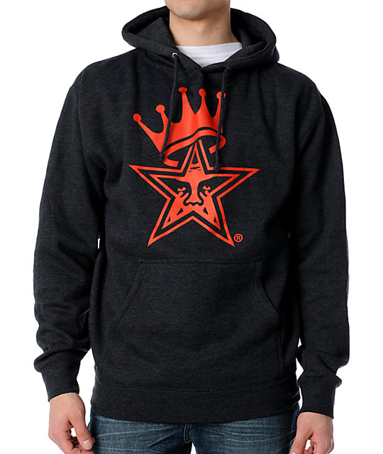 Obey Star Crown Charcoal Pullover Hoodie
