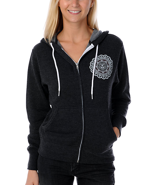 Obey Star Flower Charcoal Hoodie