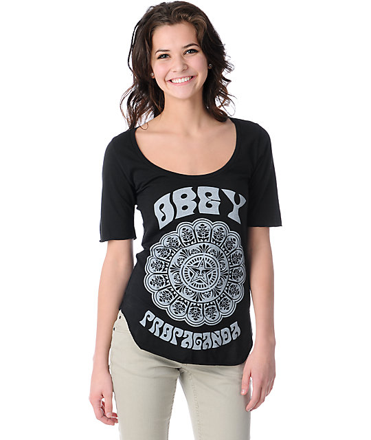 Obey Starflower Black Dance T-Shirt