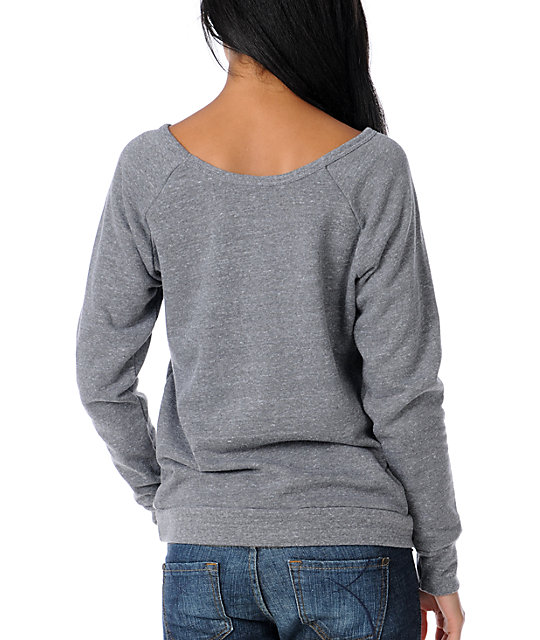 Obey Starflower Grey Pullover Sweatshirt