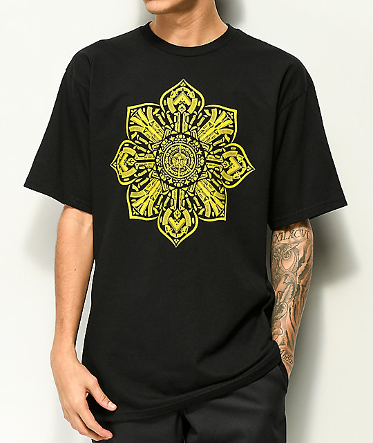 Obey Stop The Violence Mandala Black T-Shirt
