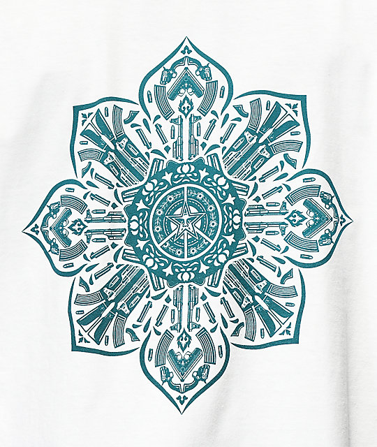 Obey Stop The Violence Mandala White T-Shirt