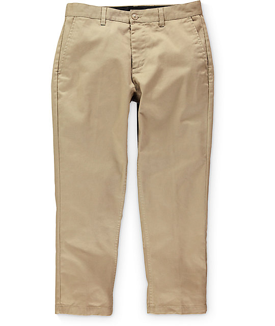 Obey Straggler Flooded Regular Fit Khaki Chino Pants