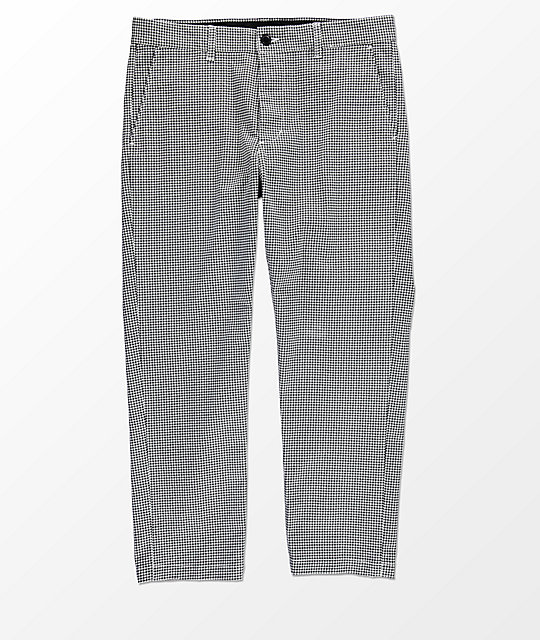 Obey Straggler Houndstooth Flooded Pants