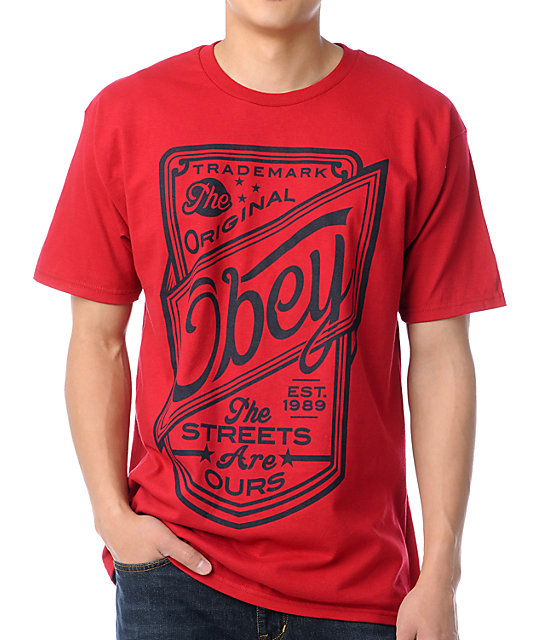 Obey Streets Are Ours Red T-Shirt