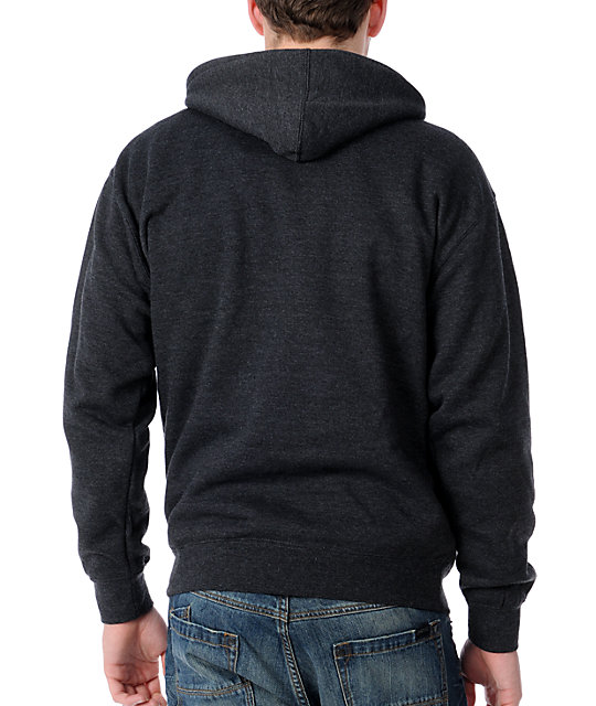 Obey Strive To Survive Charcoal Pullover Hoodie