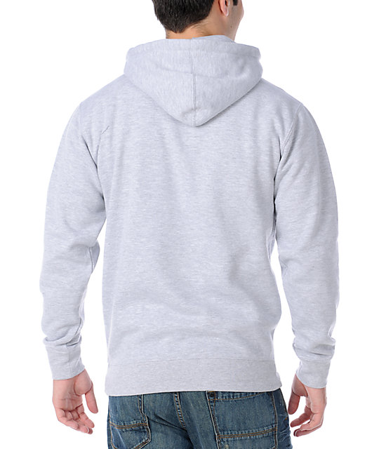 Obey Strive To Survive Grey Pullover Hoodie