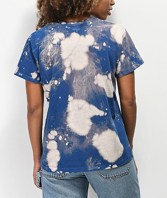 Obey Strong Minds camiseta azul blanqueda