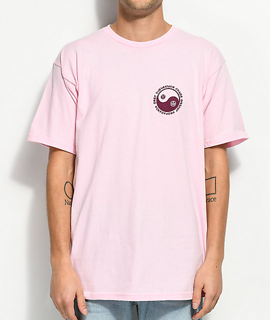 Obey Subversion Pink T-Shirt