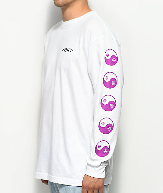 Obey Subversion White Long Sleeve T-Shirt