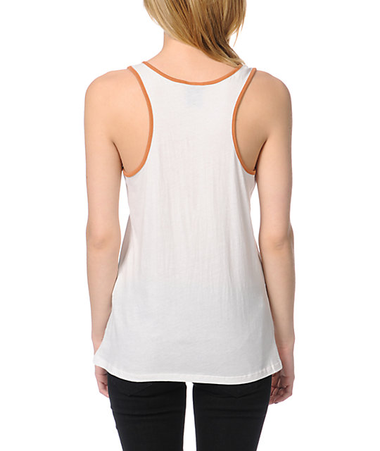 Obey Taking Flight Natural White Rookie Tank Top