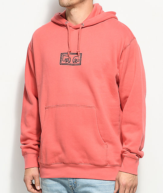 Obey These Eyes Rose Hoodie