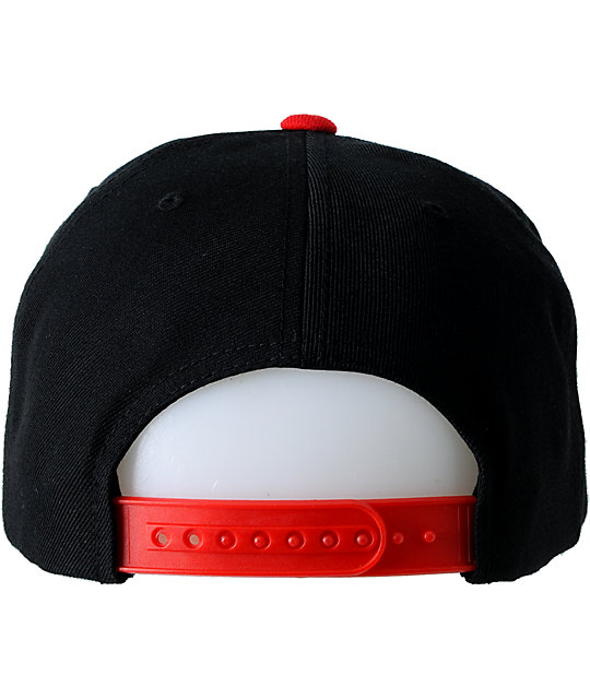 Obey Throwback Black & Red Snapback Hat