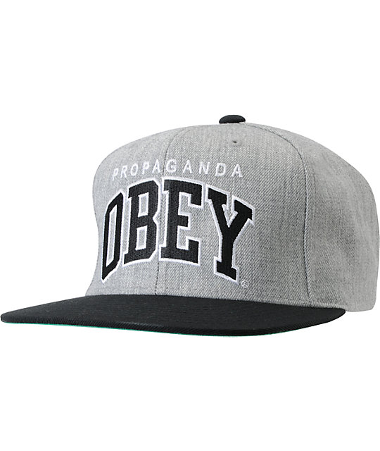 Obey Throwback Chambray Snapback Hat  cccca6326af0