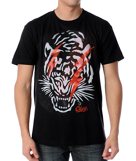 Obey Tiger Black T-Shirt