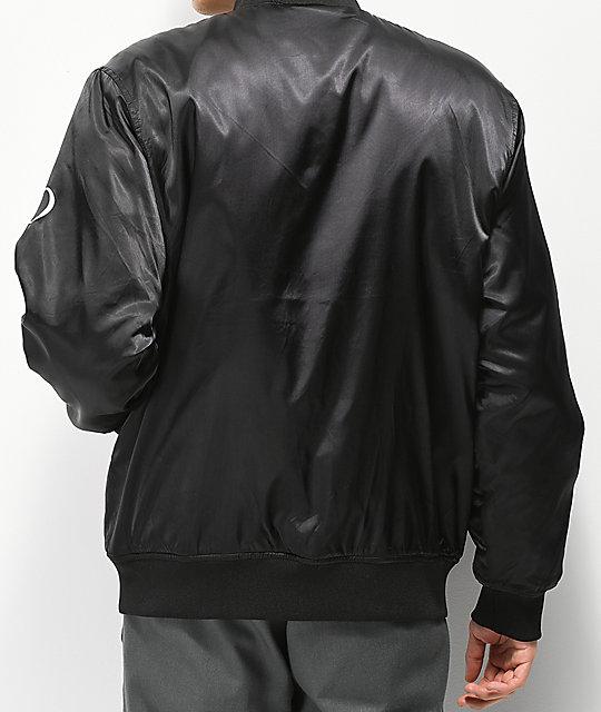 5e24a212 Obey Timeless Black Bomber Jacket; Obey Timeless Black Bomber Jacket ...