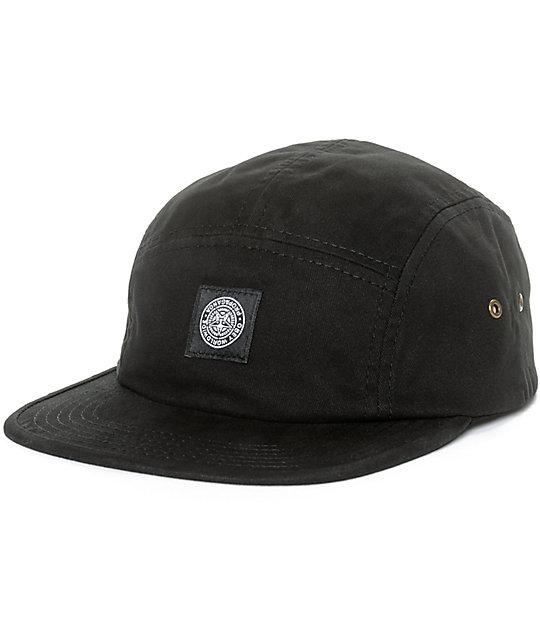 Obey Tomas Black 5 Panel Hat  e089d65c012