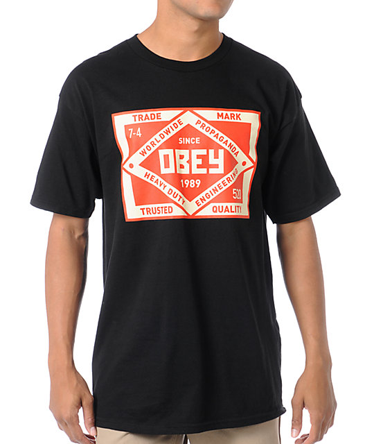 Obey Trademark Black T-Shirt