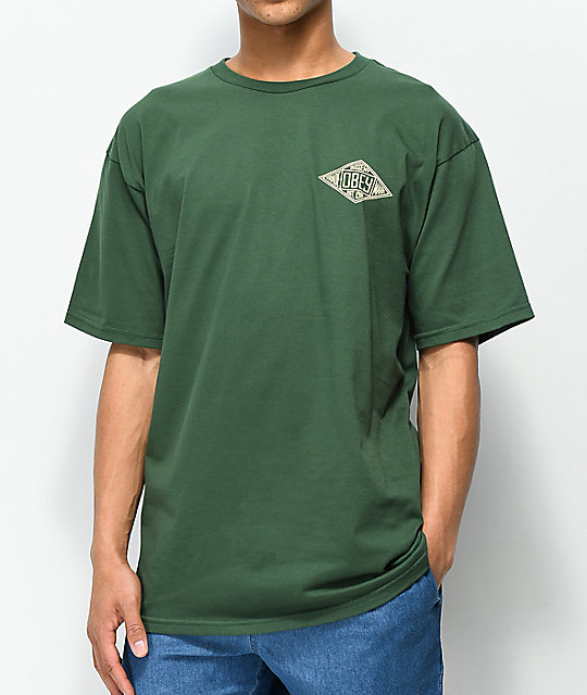 Obey Trademark Diamond camiseta color verde de bosque