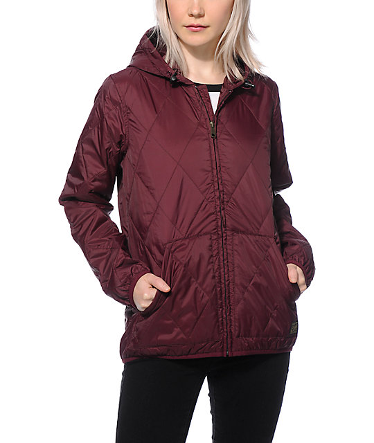 Obey Traveling Port Royal Quilted Jacket Zumiez