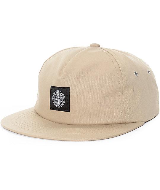 Obey Trencher Khaki Snapback Hat  d39e342c81e